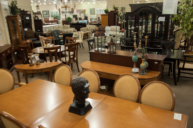 New and gently used furnishings are shown at Colleen's Classic Consignment 3071 N. Rainbow Blvd. location Tuesday, July 8, 2014. (Martin S. Fuentes/Las Vegas Review-Journal)