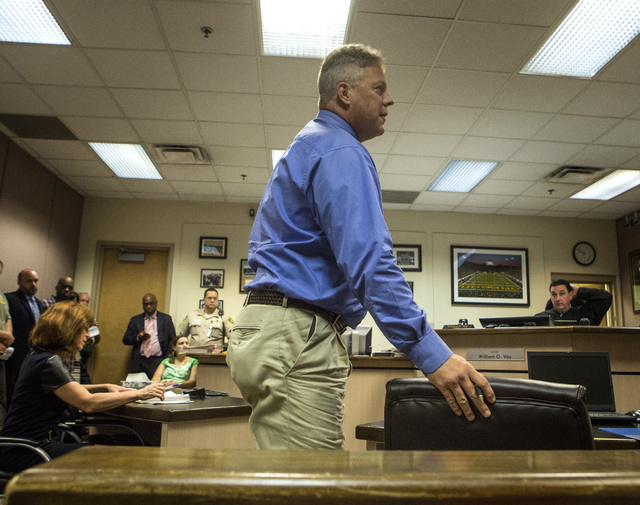 Bruce Burgess, superintendent of Caliente Youth Center, during a hearing in front of  Clark County Family Court Judge William Voy  at  Family Courts and Services Center on Thursday, July 24, 2014. ...