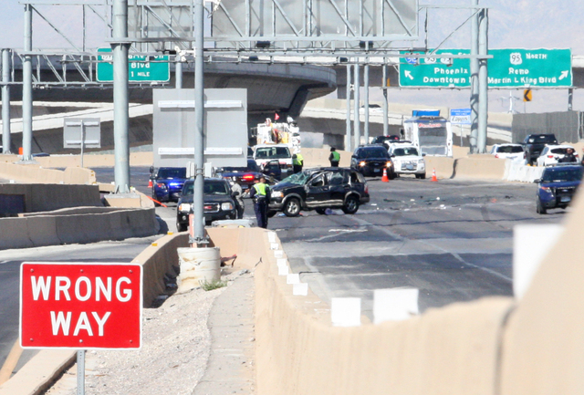 Seven people -- one adult and six juveniles -- were involved in a single-vehicle rollover accident Wednesday morning, July 2, 2014, on northbound Interstate 15 near D Street. Three were ejected fr ...