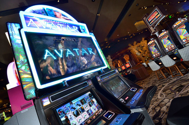 """""""Avatar"""" slot machines produced by International Game Technology are shown at the Aria. The slot machine maker all but confirmed the company is up for sale Monday. (Las Vegas Review-Journal file)"""