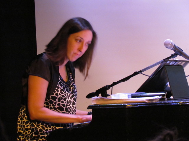 """Karalyn Clark, one of """"Two Theatre Nerds and a Keyboard,"""" Saturday night at the Onyx Theatre. Courtesy photo."""