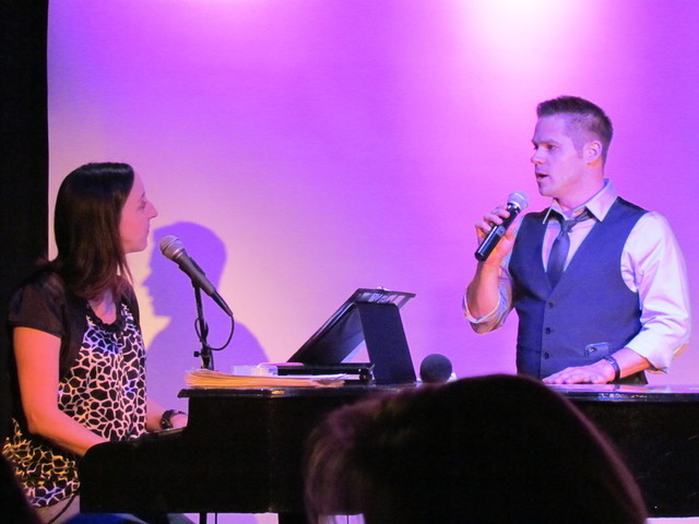 """Self-proclaimed """"theater nerds"""" Karalyn Clark and Brandon Berk perform an all-requests show Saturday at the Onyx Theatre. Courtesy photo."""