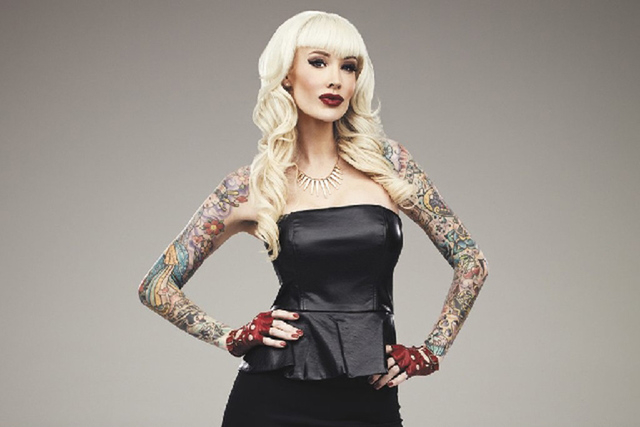 "Sabina Kelley of Las Vegas is one of the judges on Oxygen's ""Best Ink."" (courtesy)"