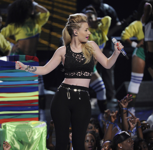 Iggy Azalea, performing at last month's BET Awards, rocks The Cosmo on Saturday. (Photo by Chris Pizzello/Invision/AP)