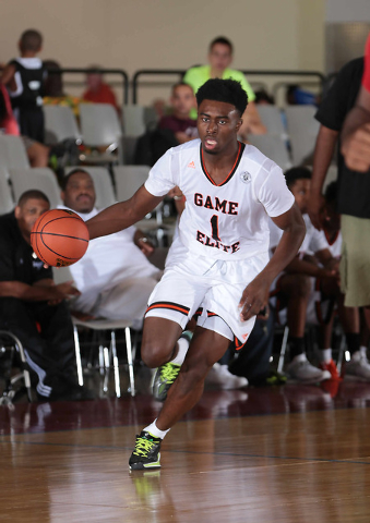 Jaylen Brown of Game Elite drives to the basket during adidas' Super 64 tournament at the Cashman Center. (Special to Review Journal)