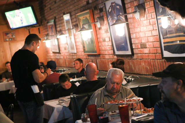 People dine at Johnny Mac's, 842 S. Boulder Highway, in Henderson on Saturday, July 5, 2014. (Chase Stevens/Las Vegas Review-Journal)