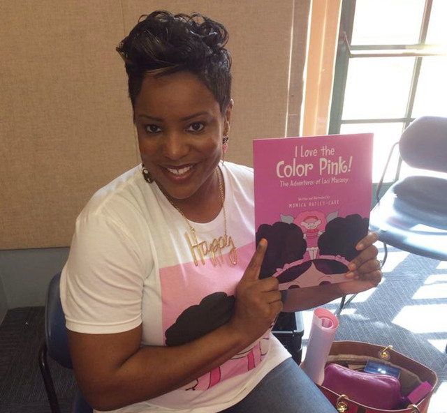 """Monica Hatley-Carr, author and illustrator of the children's book """"I Love the Color Pink! The Adventures of Laci Macasey,"""" plans to read to children and give a drawing lesson  ..."""