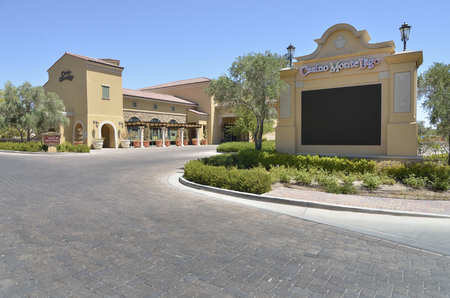 The exterior of the closed Casino MonteLago at Lake Las Vegas is shown at 30 Strada di Villaggio in Henderson on Thursday, July 3, 2014. (Bill Hughes/Las Vegas Review-Journal)