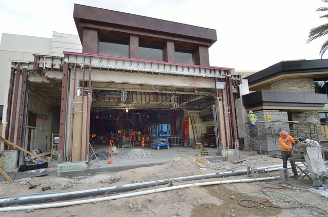 The exterior of the construction site for Hearthstone Kitchen and Cellar at the Red Rock Resort at 11011 W. Charleston Blvd. in Las Vegas is shown on Thursday, July 10, 2014. The restaurant, which ...