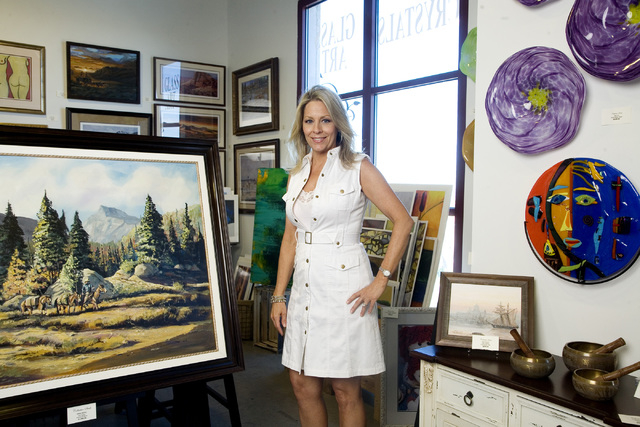 Lois Greer owner of Collective Souls displays a wide variety of artwork in her gallery in the Tivoli Village complex located at 440 S. Rampart Blvd., on Thursday, July 24, 2014. (Jeferson Applegat ...