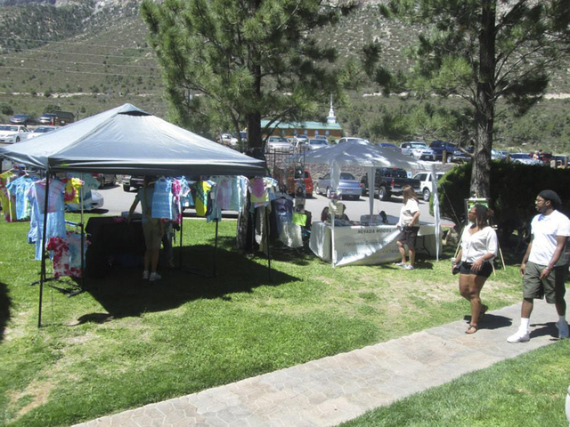 Patrons check out wares at the 2013 Mount Charleston Arts and Crafts Show at The Resort on Mount Charleston, 2275 Kyle Canyon Road. This year's event is set from 10 a.m. to 5 p.m. Aug. 9 and 10. ( ...