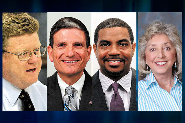 Nevada's congressional representatives, from left, Mark Amodei, Joe Heck, Steven Horsford and Dina Titus. (Las Vegas Review-Journal file)