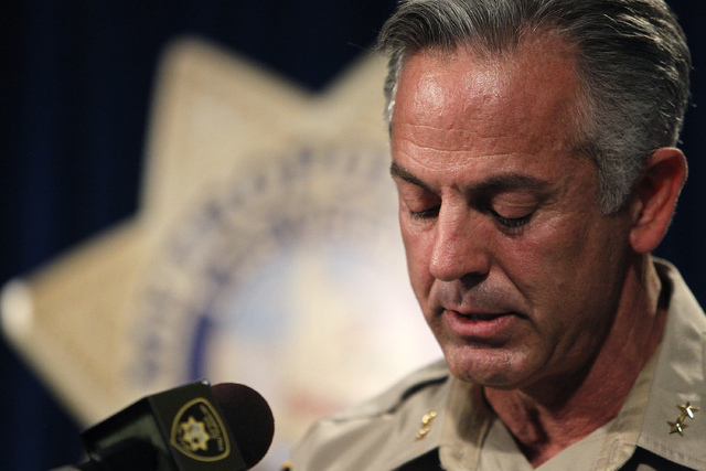 Las Vegas Metropolitan Assistant Sheriff Joe Lombardo addresses the media about two recent officer-involved shootings as well as an update on the 11 officer-involved shootings the department has b ...