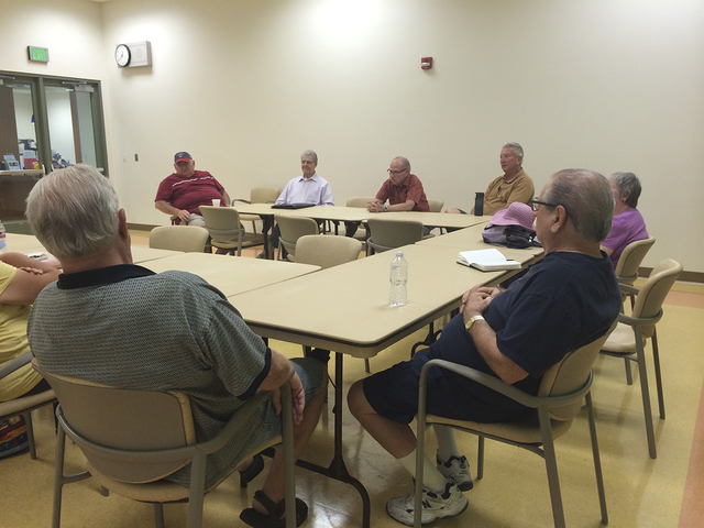 Every two weeks, seniors meet to discuss current event issues and politics at the Centennial Hills Active Adult Center, 6601 N. Buffalo Drive. These meetings provide an opportunity for seniors to  ...