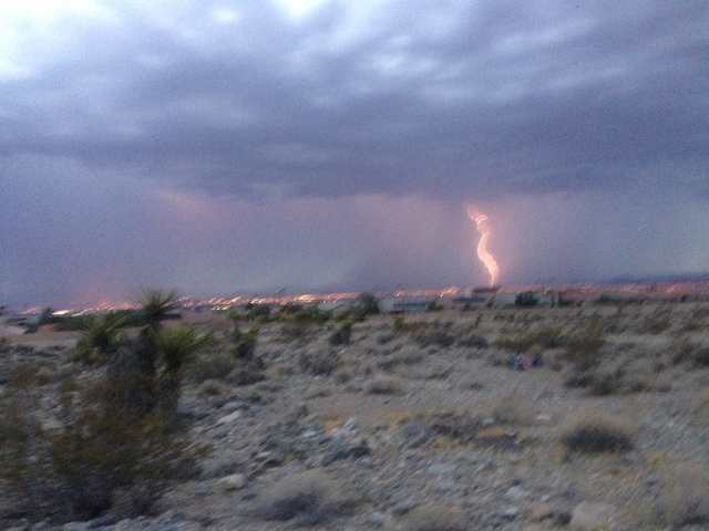 From the Red Rock foothills (Alan Snel/Las Vegas Review-Journal)