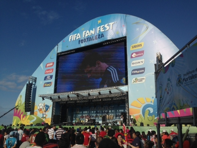 The Fan Fest at Fortaleza was packed for the World Cup final between Germany and Argentina. (Brennan Karle)
