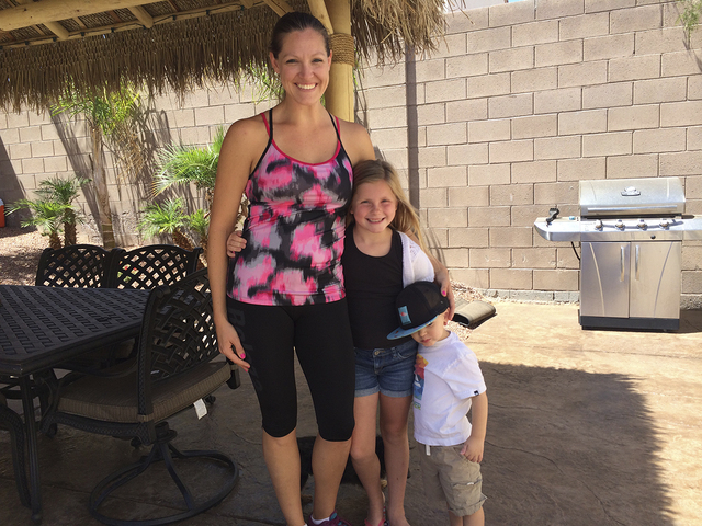 As a mother of two, Maddyson, 7, and Trystan, 2, Megan Buckley inspires parents, and those who may not think they have time for fitness to get into shape and get healthy. (SPECIAL TO VIEW)