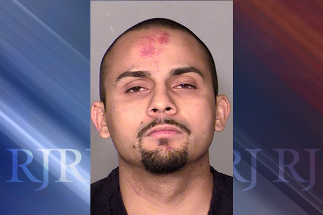 The driver of the Corolla, identified by police as 24-year-old Antonio Chavez, refused to stop, and police chased him. He crashed into a wall at Cedar Street and North Mojave Road. (courtesy Las V ...