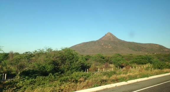 View of Pico do Cabugi on the road from Natal, Brazil, to Recife. (Brennan Karle, Las Vegas Review-Journal)