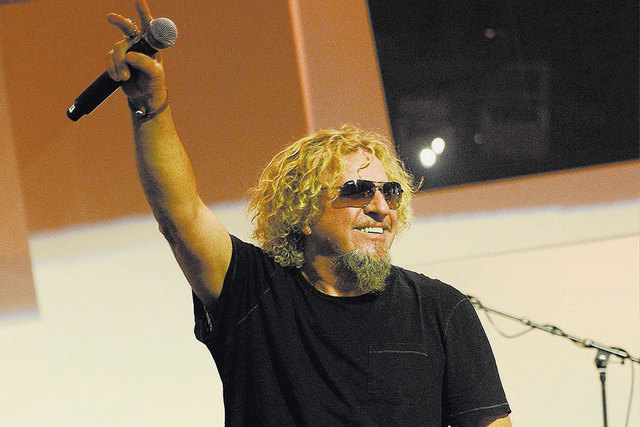 Sammy Hagar is shown at a February event in Las Vegas to support celebrity chef Kerry Simon. Hagar plays the Hard Rock Hotel on Wednesday. (Denise Truscell/WireImage)