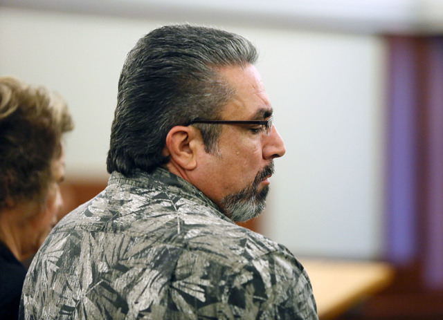 Priscilla Rocha, left, and Donnie Placencia appear in Judge Kenneth Cory's courtroom at Regional Justice Center Monday. Rocha, a former Clark County School District official, is one of five people ...