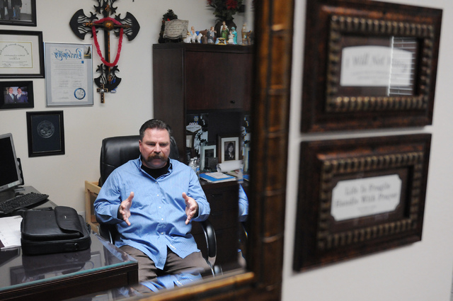 Pastor Troy Martinez claims his personal connection to sex trafficking victims led him to using his resources to connect them to organizations and people that can help them. (Erik Verduzco/Las Veg ...