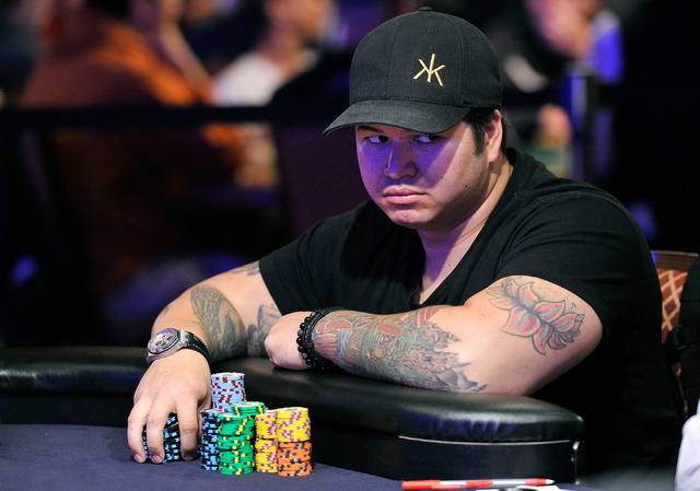 Jay Farber, 2013 final table player, looks on during day 2A/2B of the World Series of Poker Main Event at the Rio hotel-casino on Tuesday, July 8, 2014. (David Becker/Las Vegas Review-Journal)