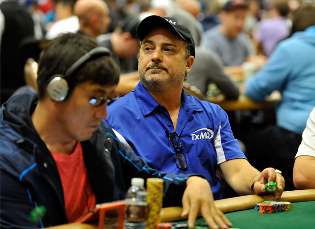 Actor and poker player Kevin Pollak looks on during day 2A/2B of the World Series of Poker Main Event at the Rio hotel-casino on Tuesday, July 8, 2014. (David Becker/Las Vegas Review-Journal)
