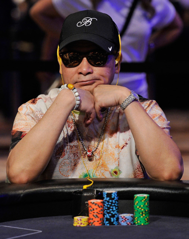 Poker player Johnny Chan watches the action during day 2A/2B of the World Series of Poker Main Event at the Rio hotel-casino on Tuesday, July 8, 2014. (David Becker/Las Vegas Review-Journal)