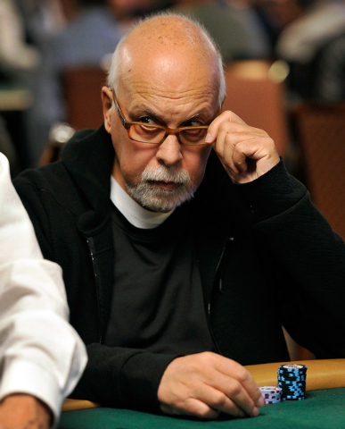 Rene Angelil, husband to singer Celine Dion, looks on during day 2A/2B of the World Series of Poker Main Event at the Rio hotel-casino on Tuesday, July 8, 2014. (David Becker/Las Vegas Review-Journal)