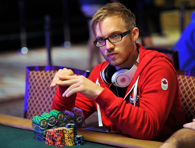 Professional poker player Martin Jacobson watches the play during day 2A/2B of the World Series of Poker Main Event at the Rio hotel-casino on Tuesday, July 8, 2014. (David Becker/Las Vegas Review ...