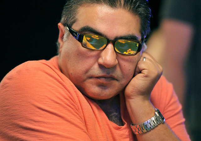 Mehrdad Yousefzadeh looks on during day four of the the World Series of Poker Main Event at the Rio hotel-casino on Friday, July 11, 2014. Yousefzadeh started the day in second place. (David Becke ...