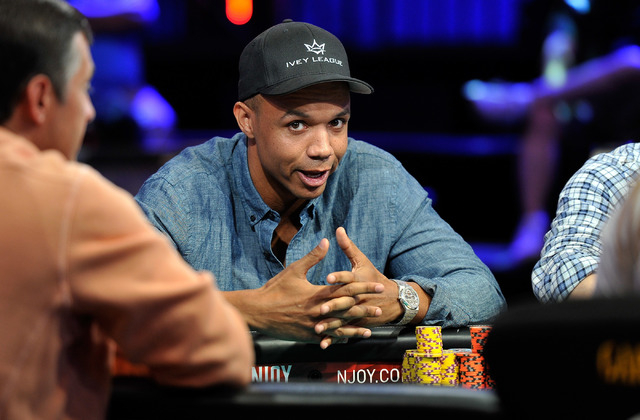 Phil Ivey  looks on during day four of the the World Series of Poker Main Event at the Rio hotel-casino on Friday, July 11, 2014. (David Becker/Las Vegas Review-Journal)