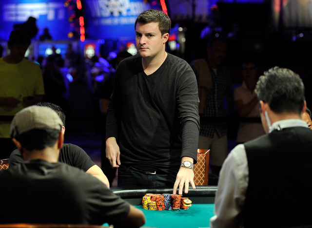 Andrew Liporace looks on during day four of the the World Series of Poker Main Event at the Rio hotel-casino on Friday, July 11, 2014. Liporace started the day in first place. (David Becker/Las Ve ...