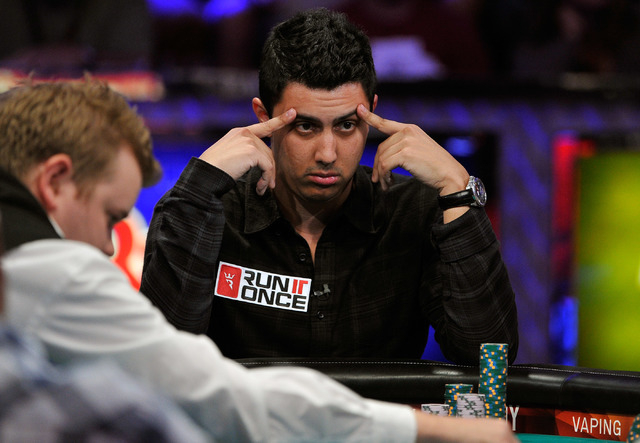 Craig McCorkell watches the action during day 7 of the World Series of Poker Main Event at the Rio hotel-casino on Monday, July 14, 2014. (David Becker/Las Vegas Review-Journal)