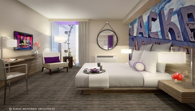 Rooms at the Linq will have a new look as Caesars Entertainment transitions from the Quad Resort & Casino. The company is spending $223 million on the project. (Photo courtesy of Caesars Entertain ...