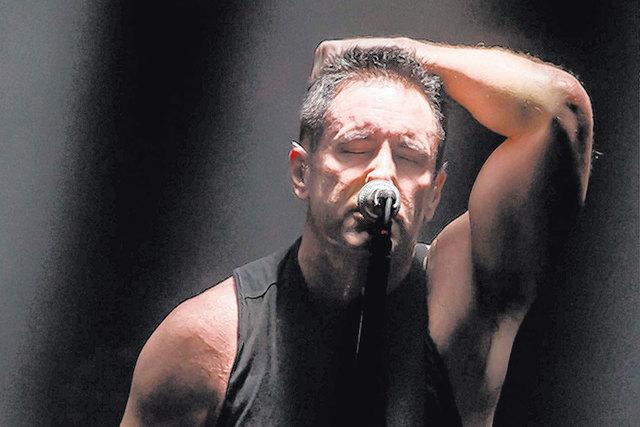 Trent Reznor and Nine Inch Nails perform with Soundgarden on Saturday at Planet Hollywood Resort. (Courtesy/Erik Kabik, Hard Rock Hotel)