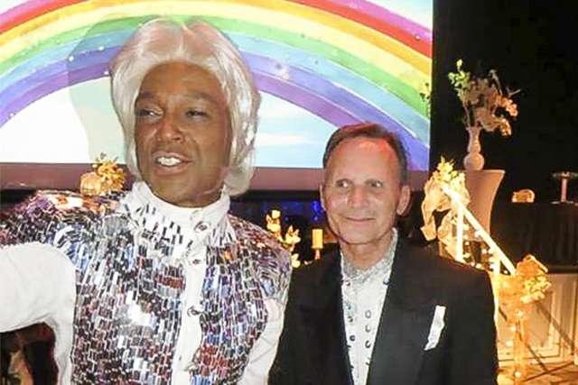Phil Flowers, left, and Bob Nole celebrate their Las Vegas wedding on Saturday, July 12, 2014. (Courtesy Phil Flowers)