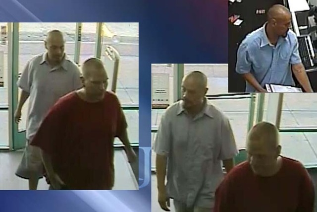 Police are looking for two suspects in a July 20 robbery near Cheyenne Avenue and Rainbow Boulevard. Police said the men acted like customers then punched the clerk, grabbed merchandise and fled t ...
