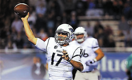 Nevada quarterback Cody Fajardo passes during the second half of an NCAA college football game against Boise State, Saturday, Oct. 19, 2013 in Boise, Idaho. Boise State beat Nevada, 34-17. (AP Pho ...