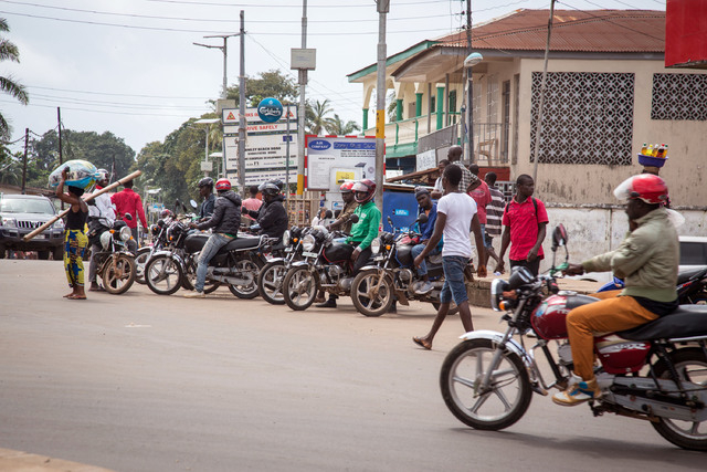 Motorcycle taxis called Okadas, used by the Sierra Leone people as affordable transport have been ordered of the roads from 7am to 7pm, local time to reduce the movement of the local population, b ...