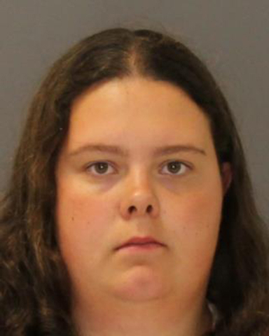 This image provided by the St. Lawrence County Sheriff's Office shows the booking photo of Nicole Vaisey, 25, who was arraigned late Friday Aug. 15, 2014 on charges she intended to physically harm ...