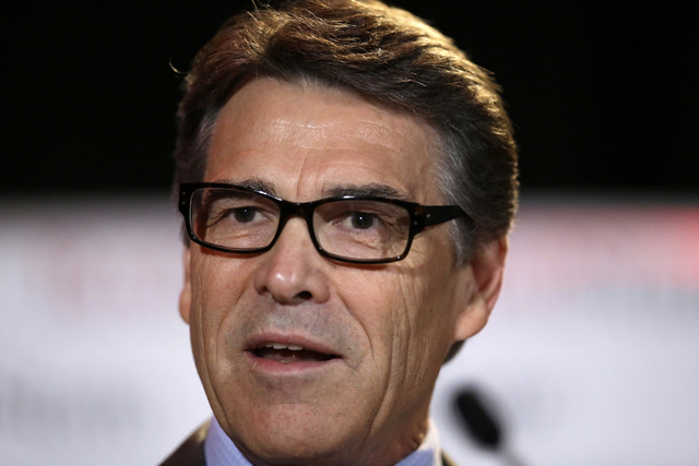 Texas Gov. Rick Perry delivers a speech to nearly 300 in attendance at the 2014 RedState Gathering, in Fort Worth, Texas. Perry was indicted on Friday, Aug. 15, 2014, for abuse of power after carr ...