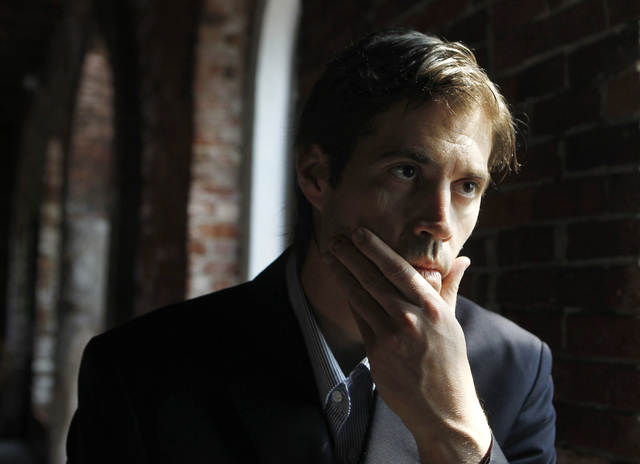 In this Friday, May 27, 2011, file photo, journalist James Foley responds to questions during an interview with The Associated Press, in Boston. A video released by Islamic State militants that pu ...