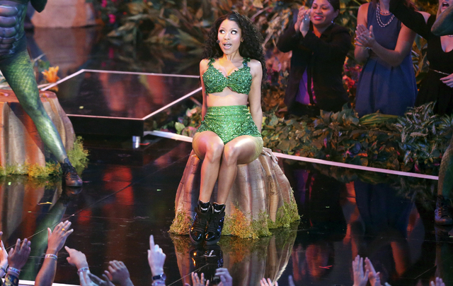 Nicki Minaj performs at the MTV Video Music Awards at The Forum on Sunday, Aug. 24, 2014, in Inglewood, Calif. (Photo by Matt Sayles/Invision/AP)