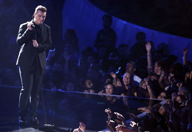 Sam Smith performs at the MTV Video Music Awards at The Forum on Sunday, Aug. 24, 2014, in Inglewood, Calif. (Photo by Matt Sayles/Invision/AP)