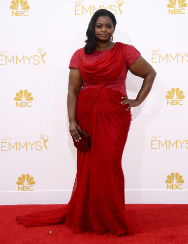 Octavia Spencer arrives at the 66th Annual Primetime Emmy Awards at the Nokia Theatre L.A. Live on Monday, Aug. 25, 2014, in Los Angeles. (Photo by Jordan Strauss/Invision/AP)
