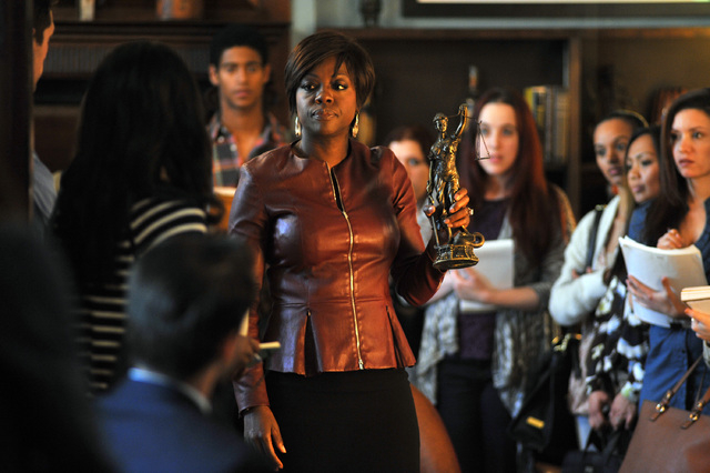 """This image released by ABC shows Viola Davis from the series, """"How To Get Away With Murder,"""" premiering Sept. 30. (AP Photo/ABC, Nicole Rivelli)"""