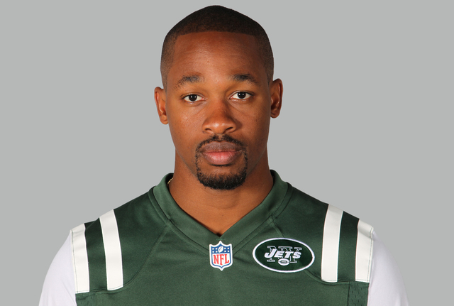 "This is a 2014, file photo showing Dimitri Patterson of the New York Jets NFL football team. The Jets have ""indefinitely"" suspended cornerback Dimitri Patterson after he left the team for 48 hours ..."
