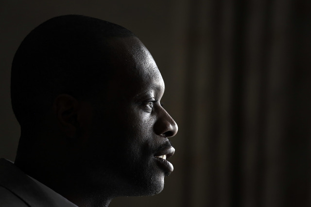 Two-time Grammy award winning rapper and a founding member of the Fugees, Pras Michel, speaks to the Associated Press in his hotel room, Sunday, Aug. 31, 2014 in Pyongyang, North Korea. The Americ ...